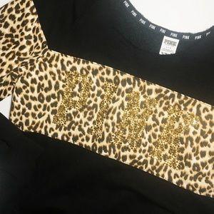 Leopard print PINK Rare sweatshirt